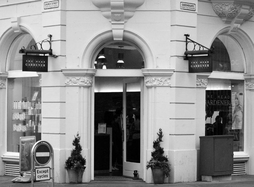 Salon front, Inverness, The Head gardener
