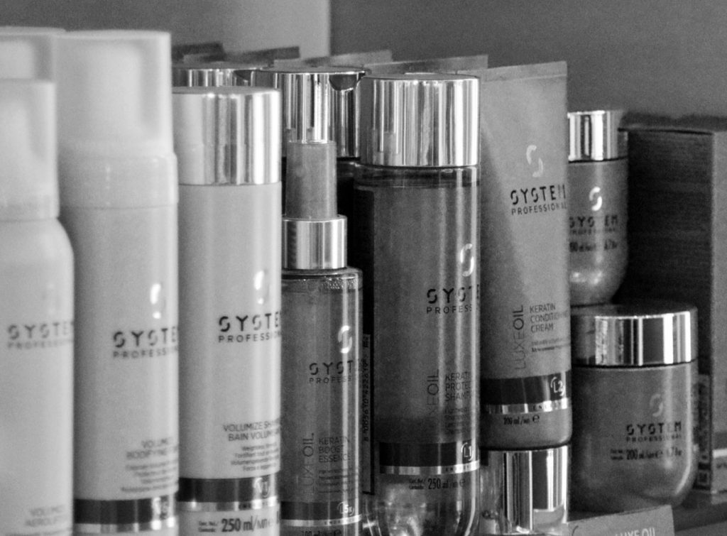 Row of Hair products