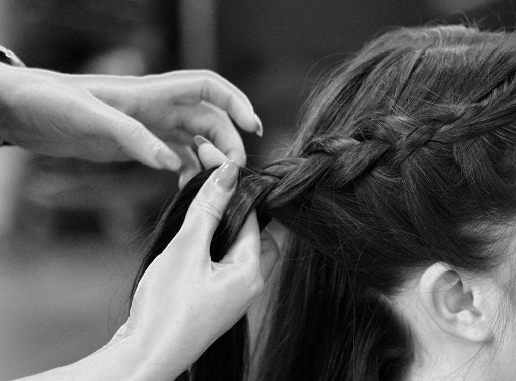 Plait being made by professional stylist